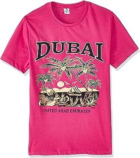 Dubshi D117 Men's Dubai T-shirt, Fushia
