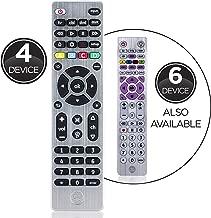 GE Universal Remote Control for Samsung, Vizio, LG, Sony, Sharp, Roku, Apple TV, RCA, Panasonic, Smart TVs, Streaming Players, Blu-ray, DVD, Simple Setup, 4-Device, Silver, 33709