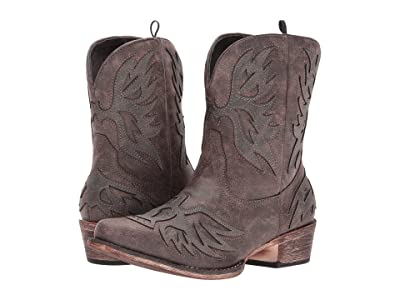 Roper Amelia (Brown Faux Leather Vamp) Cowboy Boots
