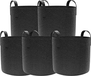 XOOL Gorw Bags, 5-Packs 7 Gallon Garden Plant Bags,Aeration Fabric Pots, for Potato/Plant Container/Aeration Fabric Pots w...