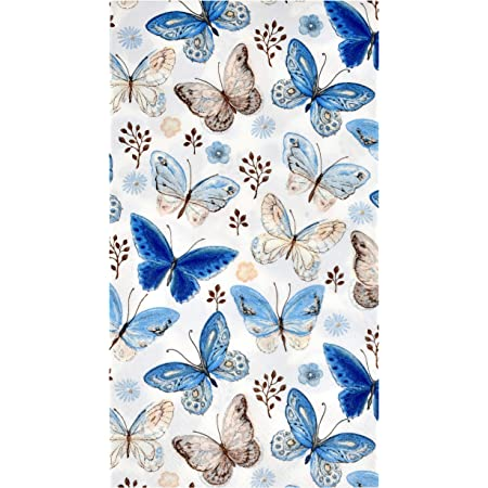 Pack of 20 Lunch Size Ambiente 3-Ply Printed Paper Napkins 33cm x 33cm Tea Mix Blue