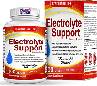 Electrolyte Supplement Vegetable Capsules -Low Carb, Rehydration & Recovery - Perfect for Keto, Electrolytes Replacement, ...