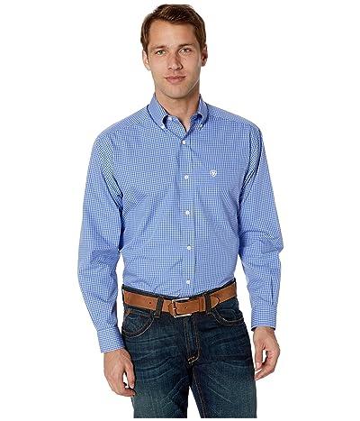Ariat Wrinkle Free Laderman Shirt (Amparo Blue) Men
