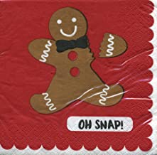 Hoffmaster Gingerbread Beverage Napkin 3 ply