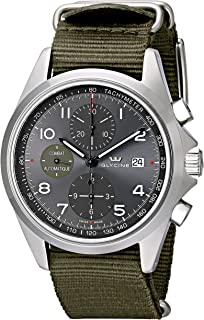 Glycine Unisex 3924-10AT-TB2 Combat Stainless Steel Automatic Watch with Green Nylon Band