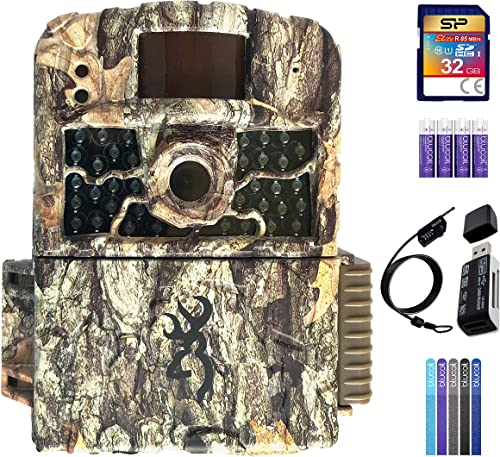 wholesale Browning BTC-5HD-MAX Strike Force HD MAX Trail Camera Bundle with 32GB SDHC Memory Card, Blucoil 4 AA Batteries, USB 2.0 Card Reader, 6.5-FT Combination Cable Lock, and online sale 5-Pack of Reusable Cable wholesale Ties online