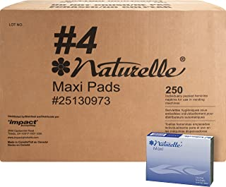 Impact Products 25130973 Maxi Pads, Naturelle, Regular, Vendor Refills, WE