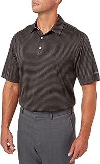 Walter Hagen Men's Stripe Golf Polo (Black, S)