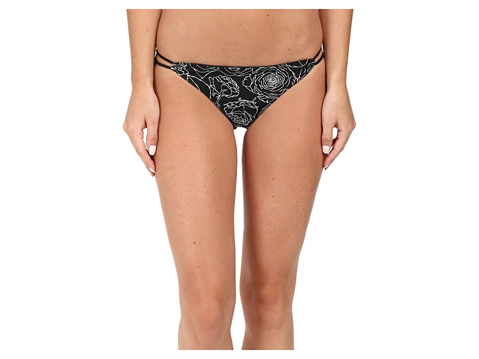 RVCA Bold Rose Medium Bottoms (Black) Women