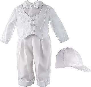 Haddad Brothers Baby-Boys Newborn Christening Baptism Long Pants with Vest