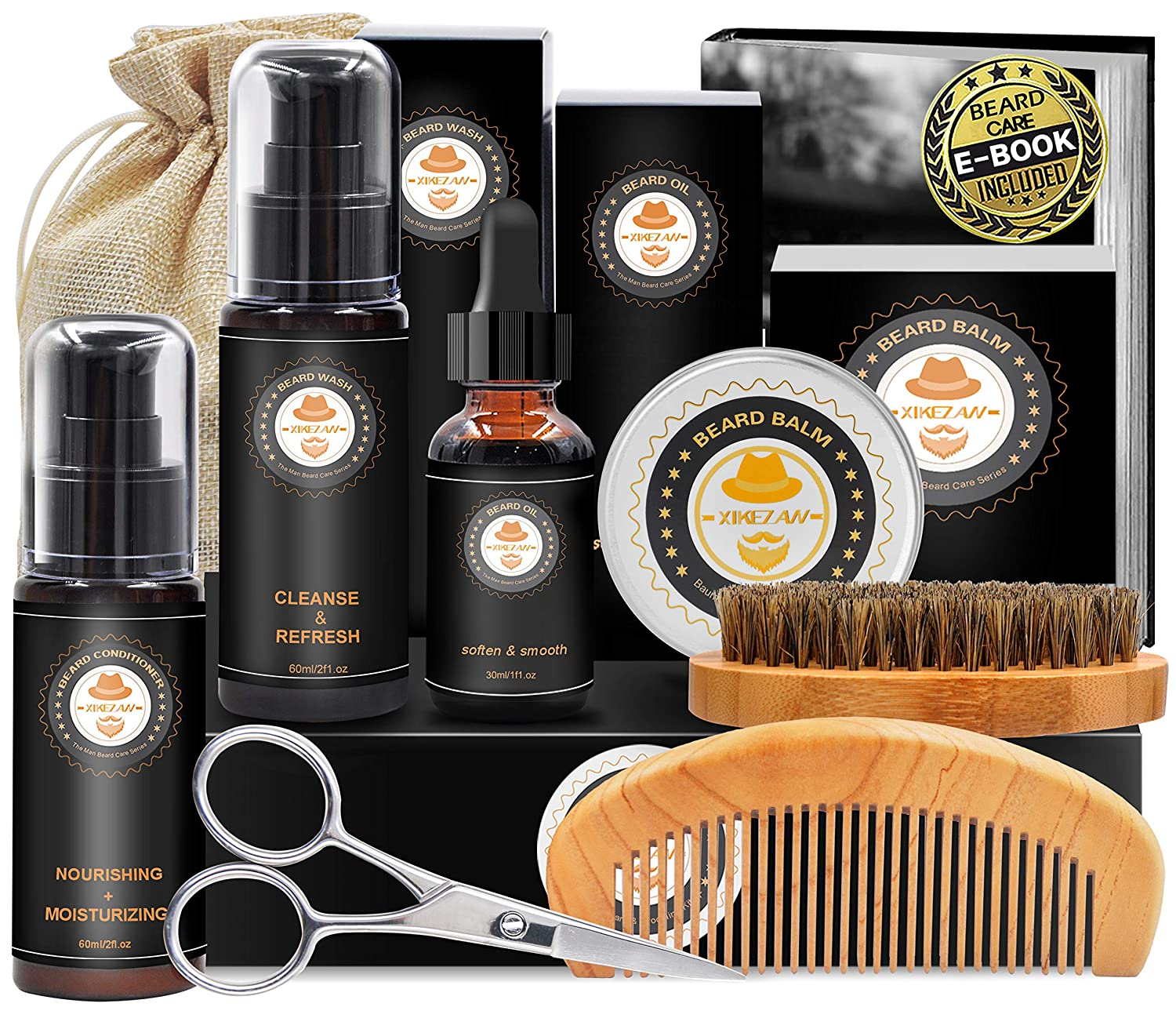 Upgraded Beard Grooming Kit Cash special price Oil Conditioner w Our shop most popular