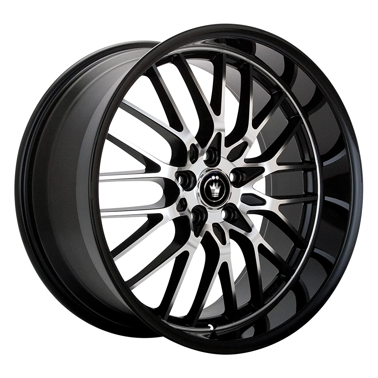 Konig Lace Black Wheel with Machined Face (17x7