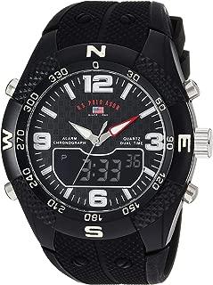 Men's Analog-Quartz Watch with Rubber Strap, Black, 26...