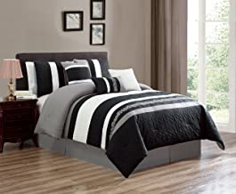 Luxlen Luxlury Bedding Set, Comforter, Black