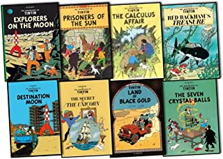 Herge The Adventures of Tintin 8 Books Collection Pack Set RRP: £63.92 (Prisoners of the Sun, The Calculus Affair, Explorers on the Moon, Land of Black Gold, Red Rackham's Treasure, Destination Moon, Seven Crystal Balls, The Secret of The Unicorn)