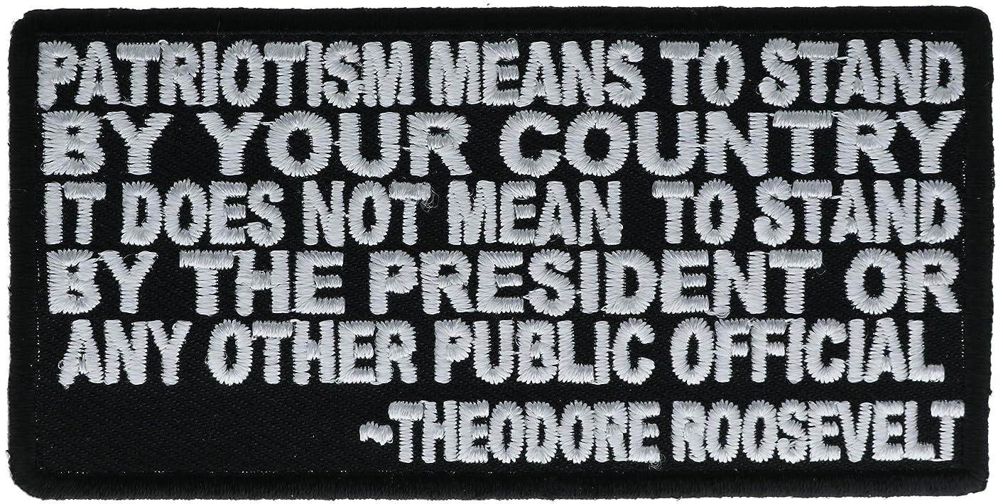 Theodore Roosevelt Patriotism Patch 4 inch IVANP3650