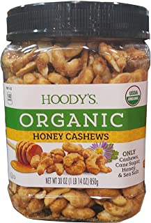 Hoodys Organic Honey Cashews 30oz