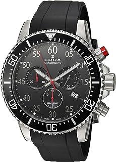 EDOX - Reloj Cronógrafo para Hombre de Cuarzo con Correa en Caucho 10227-3CA-NBN