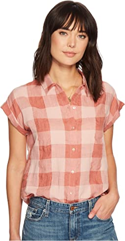 Lucky Brand Plaid Short Sleeve Top