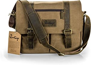 Messenger Bag for Camera and Laptop // Premium Grade Leather and Canvas for DSLR Professional and Mirrorless Setups - // The Mariner // by Portage Supply Co.