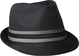 U.S. Polo Assn. Men's Twill Fedora with Two Color Grosgrain