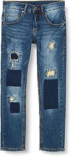 MEK Pant.Denim Elast.c/Toppe Jeans para Niños