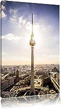 Großstadt Fernsehturm Berlin City Format: 80x60 cm auf Lein