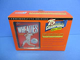 1999 75 Years of Champions Mini Wheaties Box Featuring Mark McGwire 24k Gold Signature