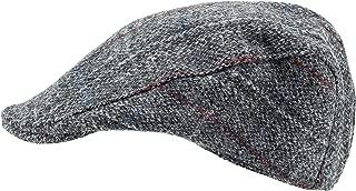 Harris Tweed.Made in Scotland.The Highlander 'Brad Pitt' Style Flat Cap.made by Hanna Hats