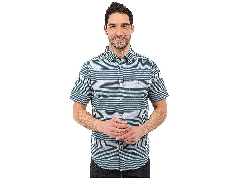 The North Face Short Sleeve Engine Stripe Shirt (Limoges Blue (Prior Season)) Men