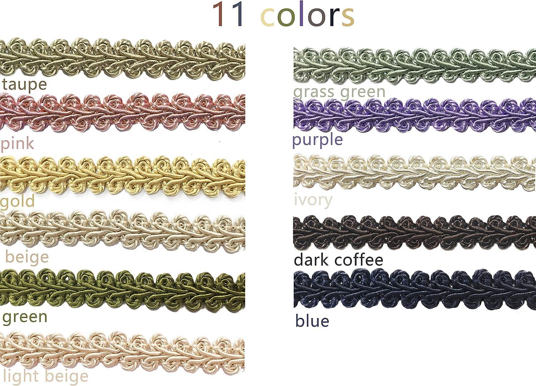 BEL AVENIR Braid Trim 1//2 inch 13.6 Yards French Gimp Basic Sewing Polyester DIY/Crafts Costume/Home Decorative Blue