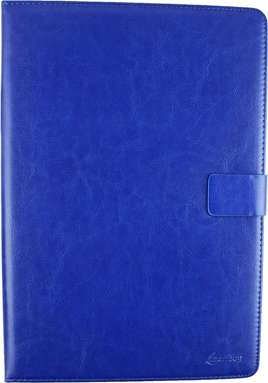 emartbuy/® Wortmann Terra Pad 1004 10.1 Zoll Tablet PC Universalbereich Blau Multi Angle Exekutiv Folio Mappen Kasten Abdeckung mit Kartensteckpl/ätze Eingabestift 10-11 Zoll