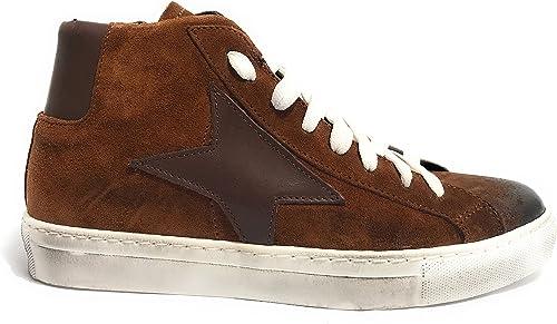 TONY WILD , Chaussures de ville à lacets pour homme Marron noyer