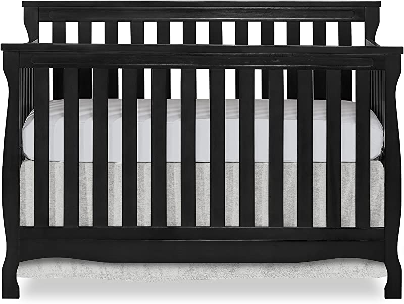 Dream On Me Keyport 5 In 1 Convertible Crib Black