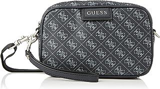 Guess Dan Logo Small NECESSAIRE, Bags Briefcase Hombre, Black, Talla Única