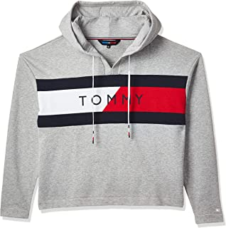 Tommy Hilfiger Hoodie for kids (unisex) in Light Grey, Size:Large