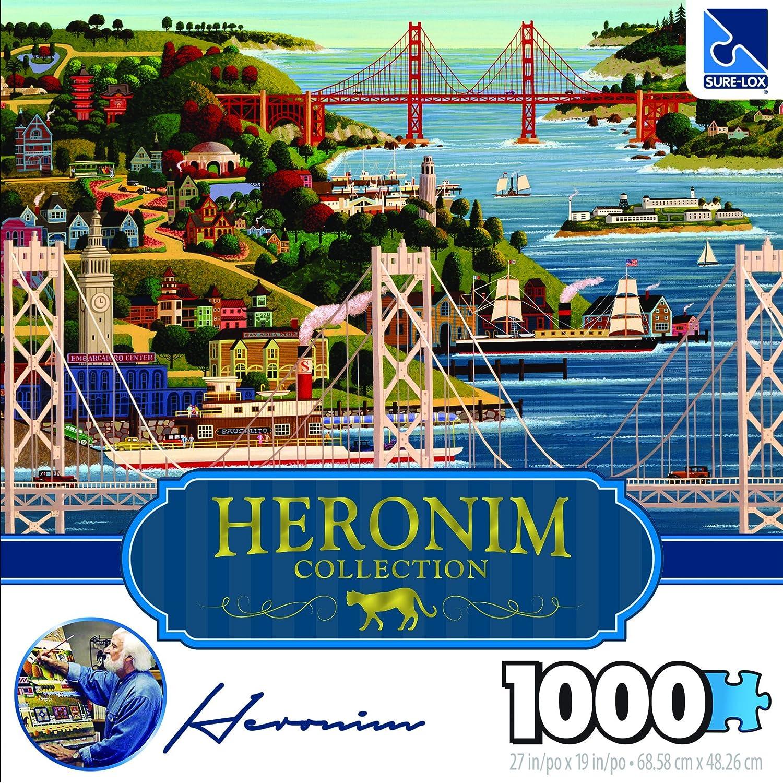 Surelox Heronim Bridges of San Fran Puzzle Collection (1000 Piece)