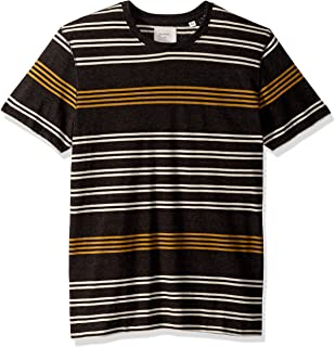 Men's Short Sleeve Stripe Crewneck T-Shirt