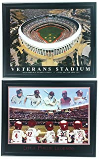 Philadelphia Phillies Little Legends Framed Lithograph and Veteran Stadium Framed Aerial Photo Set of 2 LL6009