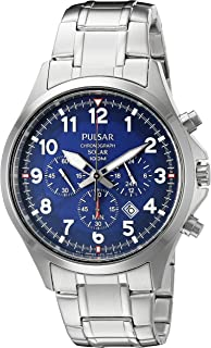 Men's PX5037 Solar Chronograph Analog Display Japanese Quartz Silver Watch