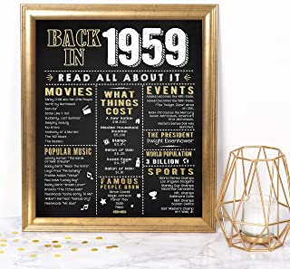 0f2e40ab Katie Doodle 60th Birthday Decorations Gifts for Women or Men   Includes  8x10 Back-in