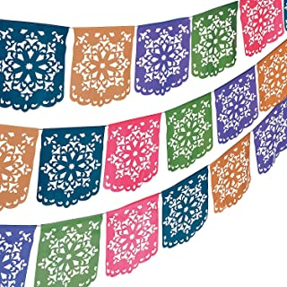Fun Express - Flower Cut Out Banner for Cinco de Mayo - Party Decor - Hanging Decor - Pennants - Cinco de Mayo - 1 Piece