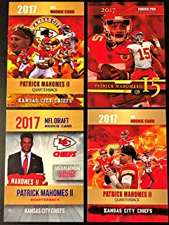 2017 PATRICK MAHOMES II Rookie Card Lot - Four Custom Pat Mahomes Rookie Cards (Limited Editions)