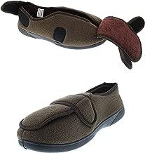 Gold Toe Jude Mens House Shoes Diabetes,Men's Orthopedic Arthritis Edema Slipper,Eldery Houseshoes,Diabetic Footwear for Men
