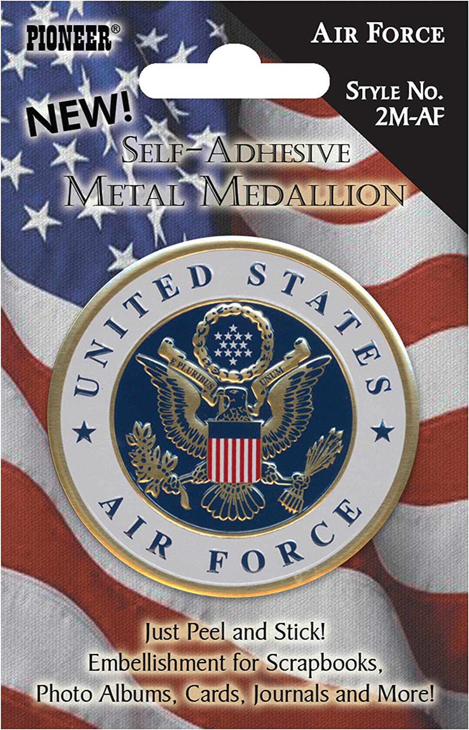 Pioneer 2M-AF Classic Max 75% OFF Scrapbooking Air Force Embellishment