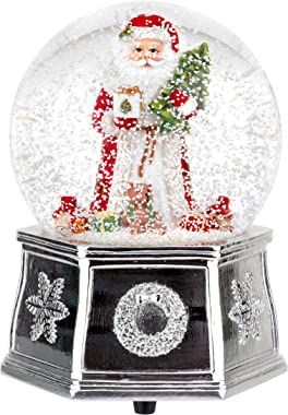 Spode Christmas Tree Musical Santa Snow Globe, Small