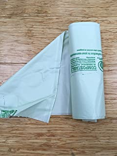 "EcoSafe 6400 Certified Compostable Bags 7 Gallon (20"" x 22""), (Gauge: .6 mil) (Package of 150 Bags: 6 Rolls)"