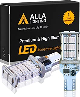Alla Lighting 912 921 Red LED 3rd Brake Lights Bulbs CAN-BUS Xtreme Super Bright 4014 48-SMD RV Car 912 W16W T15 Center High-Mounted Stop Lights Cargo Lights