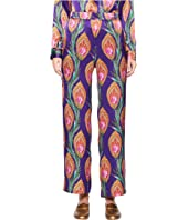 The Kooples - Long Trousers with A Hindu Flower Print