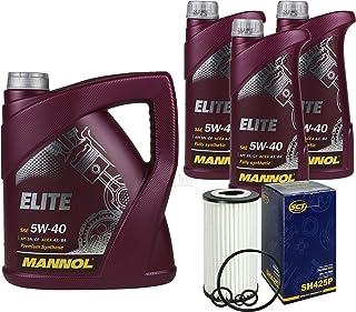 Filter Set Inspektionspaket 8 Liter MANNOL Motoröl Elite 5W 40 API SN/CF SCT Germany Ölfilter